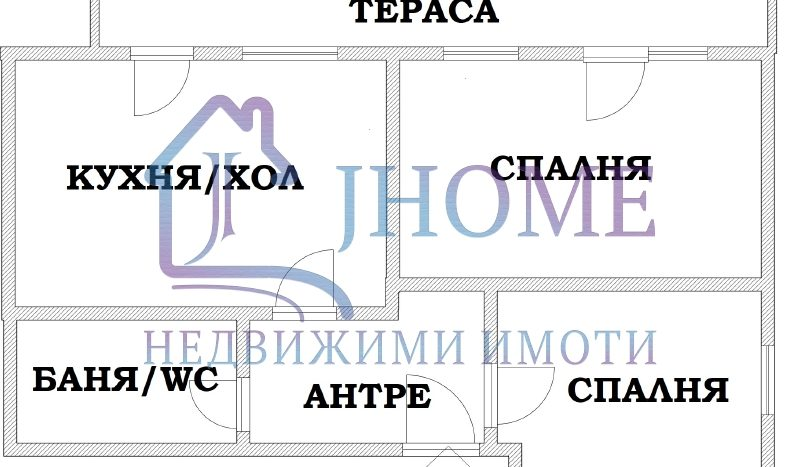 New 2 bedrooms apartment for sale, top center