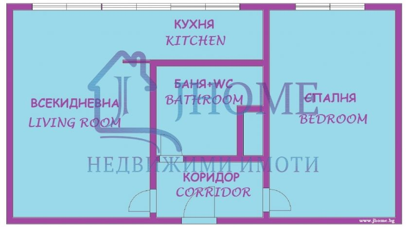 One bedroom apartment, next to the Sea garden